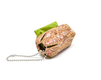 Natural/Red Cork Poop Bag Holder