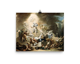 The Resurrection of Christ - religious poster - Jesus Risen - from a religious painting by Sebastiano Ricci - easter gift