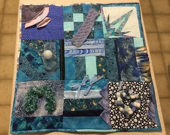 Handmade fidget lap quilt Dementia, Alzheimer's, Anxiety