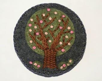 Felt Flowering Tree Brooch