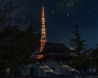 Tokyo Tower Print, Japan, tokyo, Japan photography, travel photography, wall art, dorm , decoration, fine art print