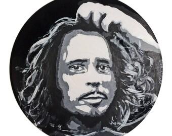Chris Cornell Vinyl Painting
