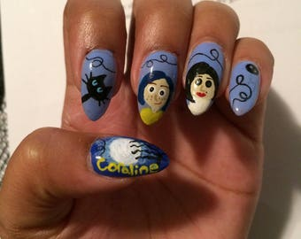 Coraline Press on nails