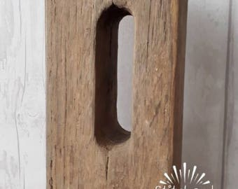 Rustic Wooden chunky Doorstop Farmhouse Country cottage  Vintage Reclaimed Wood
