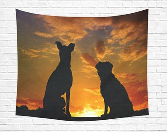 "Dogs Horizon Wall Tapestry 60""x 51"""