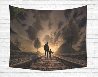"On Track Wall Tapestry 60""x 51"""