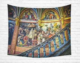 "Cathedral Mural Wall Tapestry 60""x 51"""