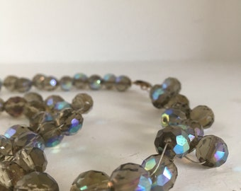 Gorgeous retro hand strung beaded necklace
