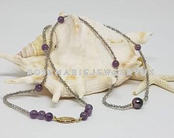 Tahitian Pearl Gemstone Necklace