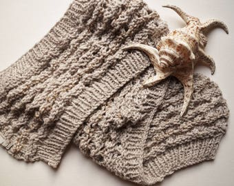 Scarf-grey-wool-scarf for festive occasions