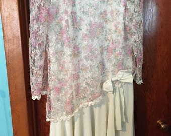 80's Vintage Mother of the Bride Wedding Dress