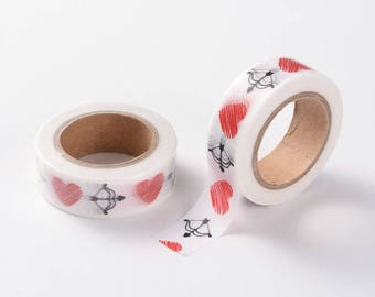 Heart/Valentines Washi Tape - 15mm x 10 Meters - #SW104