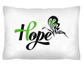 Pillow Cover-Bile Duct Cancer (Cholangiocarcinoma) Awareness, Hope, Cholangiocarcinoma (CCA), Fight Cancer, Gallbladder/Bile Duct Cancer