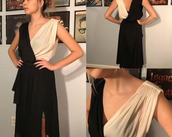 Vintage 1970's Grecian Style Cocktail Dress