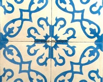 Bess blue cement tiles