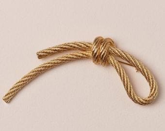 Christian Dior Brush Gold Rope Pin