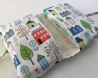 Houses Nappy & Wipes Holder