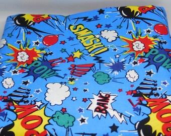 Bright coloured comic/hero pattern Dog Bandana or Bow