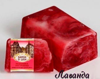 "Cosmetic soap ""Crimson mood"""