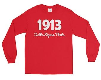 Delta Sigma Theta 1913 Long Sleeve T-Shirt