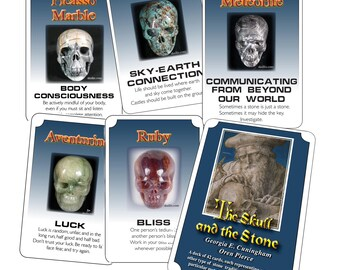 The Skull and The Stone oracle card deck - autographed by author and artist - Limited Edition