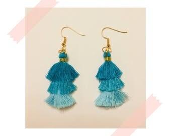 Flamenco Earrings - Turquoise