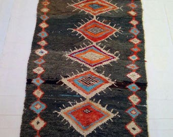 "Beni ouarain runner rug""berber rug""tapis marocain""morocan rug  274x90 cm"