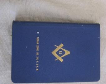 Masonic Edition The Holy Bible A.J. Holman Co 1924 Tuscan Lodge NO 704, F. & A. M. King Solomon's Temple J.W. Kelchner