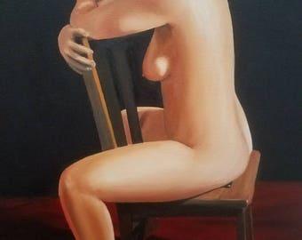 Christine on chair