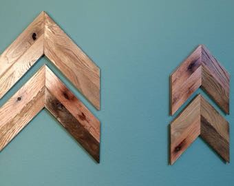 Reclaimed Chevron Arrows (Set of 2)