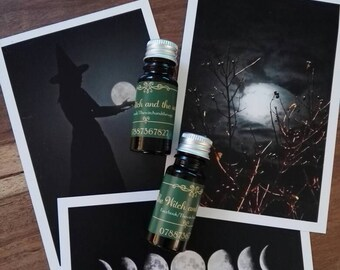 Full moon oil blend ritual altar spells witch pagan wiccan magic