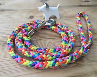 Rainbow Soft Rope Dog Lead