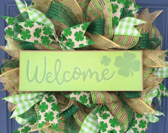 St. Patricks Day Irish Welcome Wreath