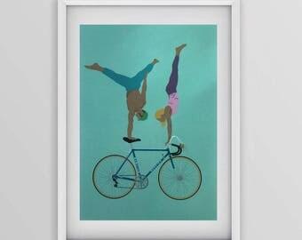 Mercier bicycle print A4 no2