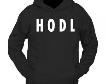 Cryptocurrency inspired HODL hoodie