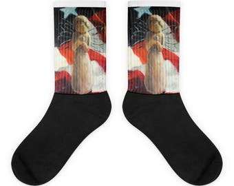 Patriotic Angel Sock