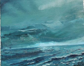 Sounds of the sea III. Oil on canvas. Original painting.