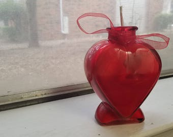 Multi-Color Heart Candle