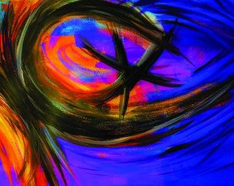 Abstract digital hand paint desktop wallpaper