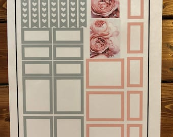"Peony Stickers for EC Hardcover 8""x 10"" Vertical Planner"