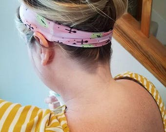 "Pink ""Abstract"" Athletic Headband"