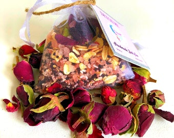Bath Tea, DETOX ME, Bath Soak, Rose, Remedial, Scented, Essential oils, Beneficial for body and mind, Gorgeous gifts