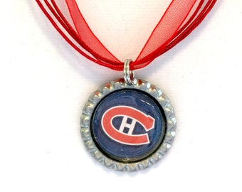 Montreal CANADIENS Handcrafted Hockey Necklace