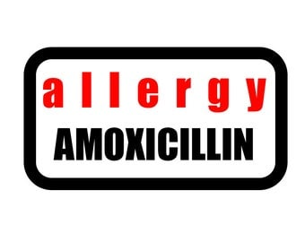 Medical Patch - ALLERGY AMOXICILLIN - Embroidered