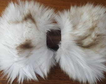 Arctic Fox Faux Fur Bow