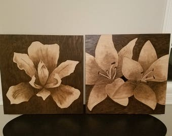 Hand stained wall art