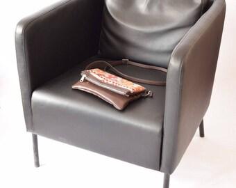 Clutch Bag-021 Handbag Vintage Kilim Rug Genuine Leather Bohemian Bag Boho Bag Hippie Bag