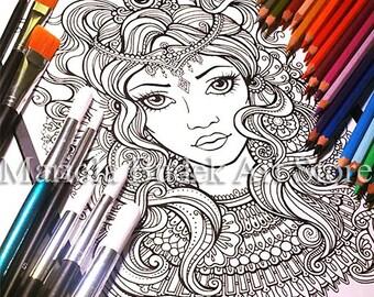 Queen | Mariola Budek - Coloring Page