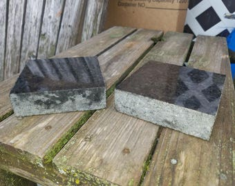 Black Pearl Granite Coasters SET OF TWO!!