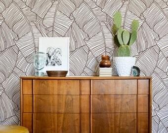 Bananenblättern Tapete, Abnehmbarer, Banane Blatt Wandbild, Minimalistische  Wandkunst, Tropischen Wand Dekor